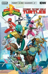 Mighty Morphin Power Rangers / Teenage Mutant Ninja Turtles #1 Original Cover