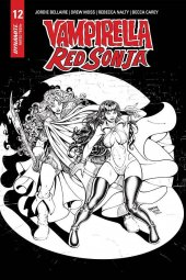 Vampirella / Red Sonja #12 15 Copy Robson B&W Homage Incentive