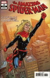The Amazing Spider-Man #16 Hawthorne Captain Marvel Variant