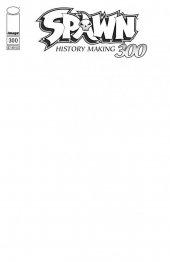 Spawn #300 Cover Q Black Sketch Variant