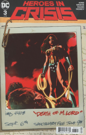 Heroes in Crisis #3 Variant Edition
