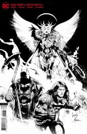 Dark Nights: Death Metal #1 B&W Party Variant Cover by Greg Capullo and Jonathan Glapion