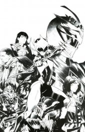 Mighty Morphin Power Rangers: Ranger Slayer #1 1:25 B&W Dan Mora Variant