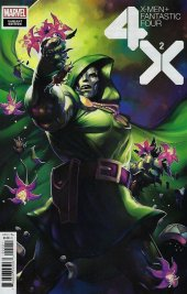 X-Men / Fantastic Four #2 Meghan Hetrick Flower Variant Edition