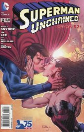 Superman Unchained #2 75th Anniversary New 52 Cover