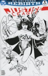 Justice League #1 Midtown Comics Black & White Variant