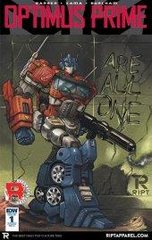 Optimus Prime #1 RE-A Cover (RIPT Apparel)