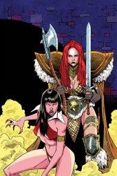 Vampirella / Red Sonja #11 Peeples Homeage Ltd Virgin Cover