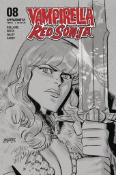 Vampirella / Red Sonja #8 1:40 Romero B&w Cover