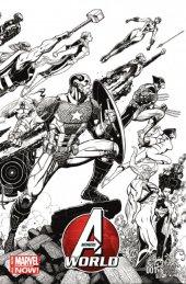 Avengers World #1 Wraparound Sketch Variant