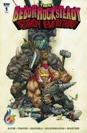TMNT: Bebop & Rocksteady Destroy Everything #1 Comics and Ponies Kenneth Rocafort Variant