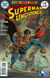 Superman Unchained #4 75th Anniversary Bronze Age Cover