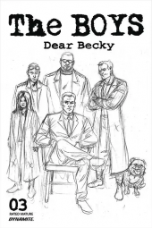 The Boys: Dear Becky #3 Line Art FOC Robertson