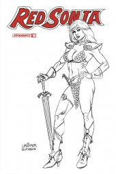 Red Sonja #16 1:20 Linsner B&W Cover