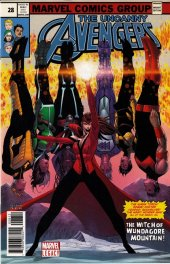 Uncanny Avengers #28 Second Printing Jon Malin Cover