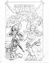 Secret Wars #1 Space Cadets Sketch Variant