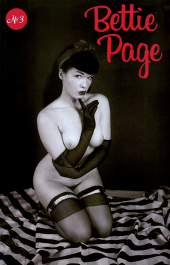 Bettie Page #3 Black Bag Photo Cover