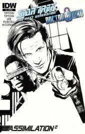 Star Trek: The Next Generation/Doctor Who: Assimilation2 #4 Francesco Francavilla Sketch Cover