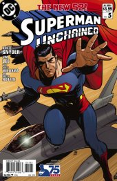 Superman Unchained #5 75th Anniversary Modern Age Cover