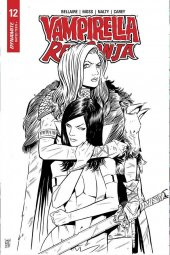 Vampirella / Red Sonja #12 10 Copy Moss B&W Incentive