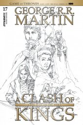 A Game of Thrones: Clash of Kings #17 1:20 Rubi B&w Cover
