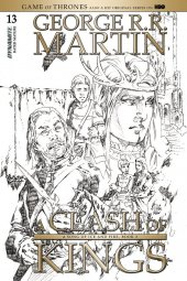 A Game of Thrones: Clash of Kings #13 Cover D 1:15 Rubi B&w Cover