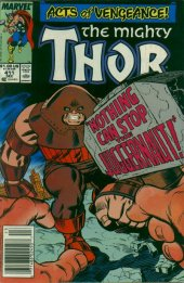 The Mighty Thor #411 Newsstand Edition