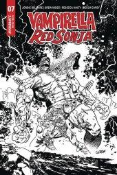 Vampirella / Red Sonja #7 1:15 Gedeon B&w Zombie Incentive