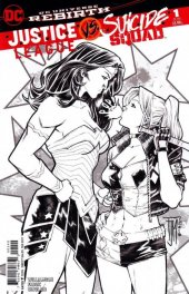 Justice League vs. Suicide Squad #1 Fried Pie B&W Variant
