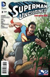 Superman Unchained #3 75th Anniversary New 52 Cover