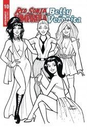 Red Sonja & Vampirella Meet Betty & Veronica #10 1:01 Parent B&w Cover