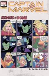 Captain Marvel #21 Gurihiru Heroes at Home Variant
