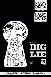 Nancy Drew And The Hardy Boys: The Big Lie #3 Cover C 1:10 Charretier B&w