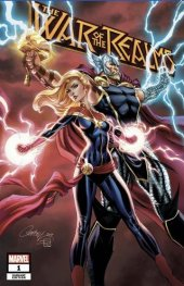 War of the Realms #1 J Scott Campbell (Thor Helmet) Fan Expo Cover