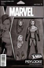 Uncanny X-Men #1 Christopher Action Figure Party Sketch Variant
