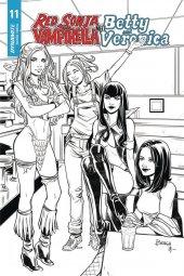 Red Sonja & Vampirella Meet Betty & Veronica #11 1:20 Braga B&w Cover