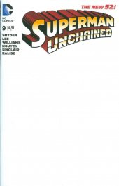 Superman Unchained #9 Blank Variant