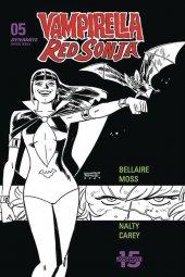 Vampirella / Red Sonja #5 1:40 Romero & Bellaire B&W