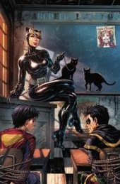 Super Sons #1 Unknown Comic Books Exclusive Tyler Kirkham Catwoman Variant