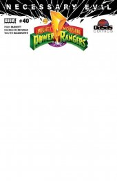 Mighty Morphin Power Rangers #40 OASAS Comics Exclusive SDCC Blank Sketch Variant
