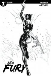 Miss Fury #1 1:50  Tucci B&w Cover