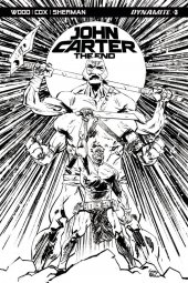 John Carter: The End #3 Cover C 1:10 Brown B&w Cover