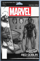 The Amazing Spider-Man #799 Action Figure B&W Variant