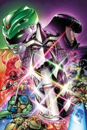 Mighty Morphin Power Rangers / Teenage Mutant Ninja Turtles #1 Matt Frank Alpha Comics Retailer Exclusive Virgin Variant Cover