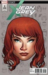 Jean Grey #8 Legacy Headshot Variant