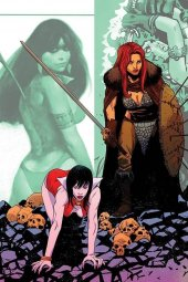 Vampirella / Red Sonja #10 1:30 Moss Virgin Cover