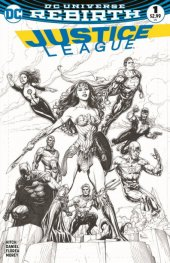 Justice League #1 Fried Pie Black & White Variant