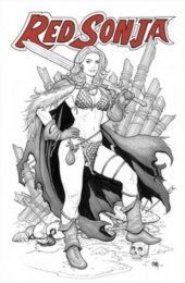 Red Sonja #13 Frank Cho Kickstarter Line Art
