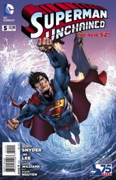 Superman Unchained #5 75th Anniversary New 52 Cover