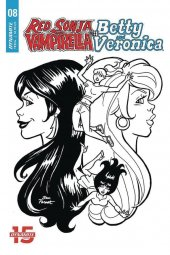 Red Sonja & Vampirella Meet Betty & Veronica #8 1:10 Parent B&w Cover